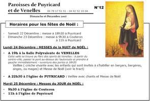 Bulletin paroissial dimanche 16 décembre